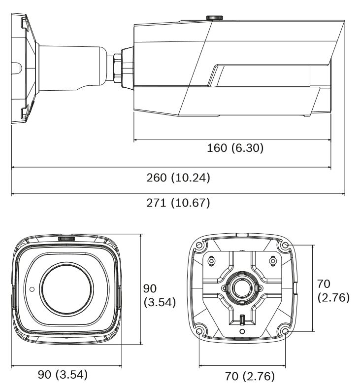 Bosch NTI-50022-A3S Dimensions