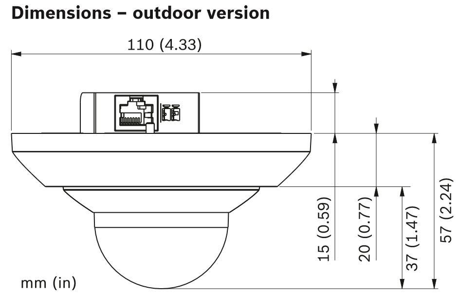 Bosch NUC-52051-F0E Dimensions