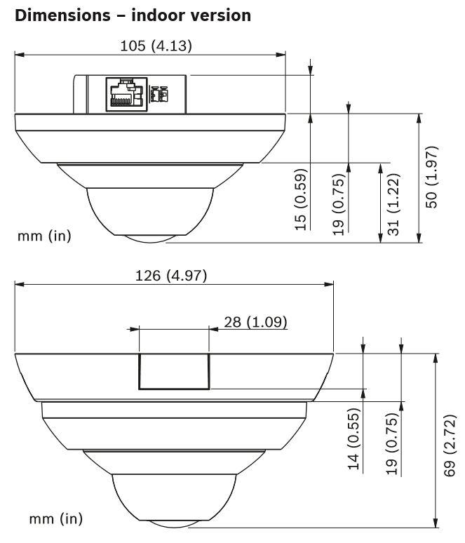 Bosch NUC-52051-F0 Dimensions