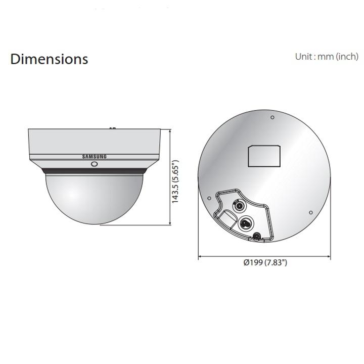 PNM-9020V dimensions