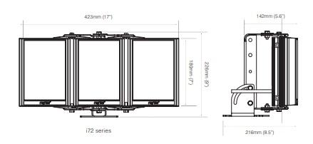 PSTR-i72-HV dimensions