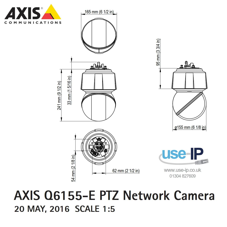 Axis Q6155-E Dimensions