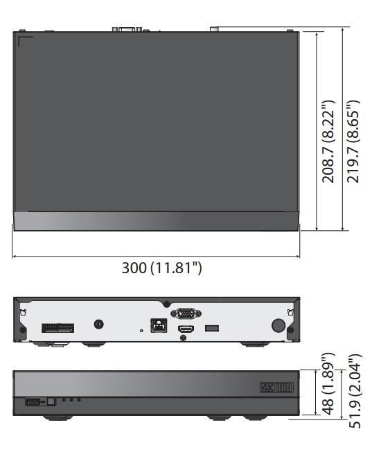QRN-810 dimensions