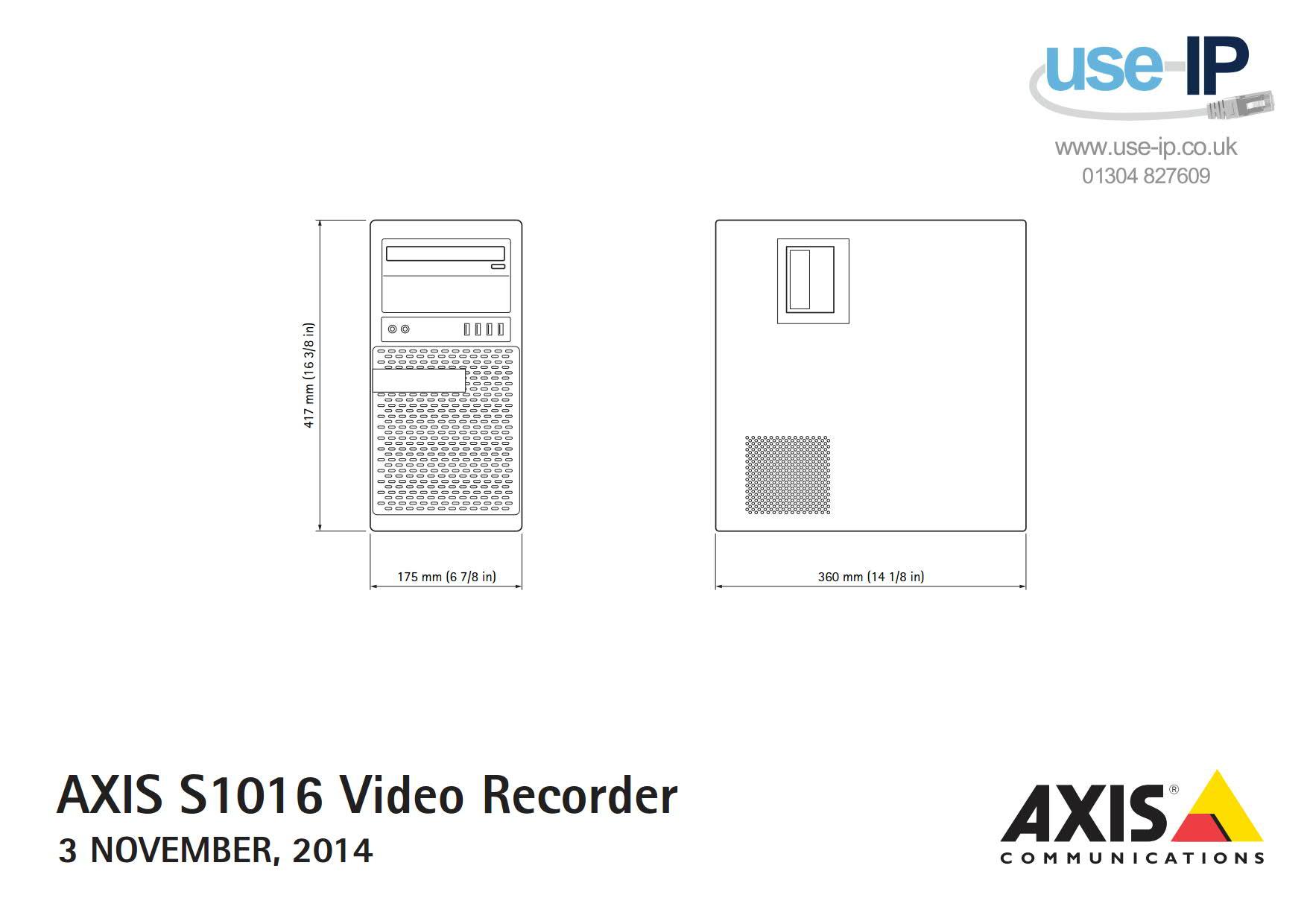Axis S1016 Mk II Dimensions