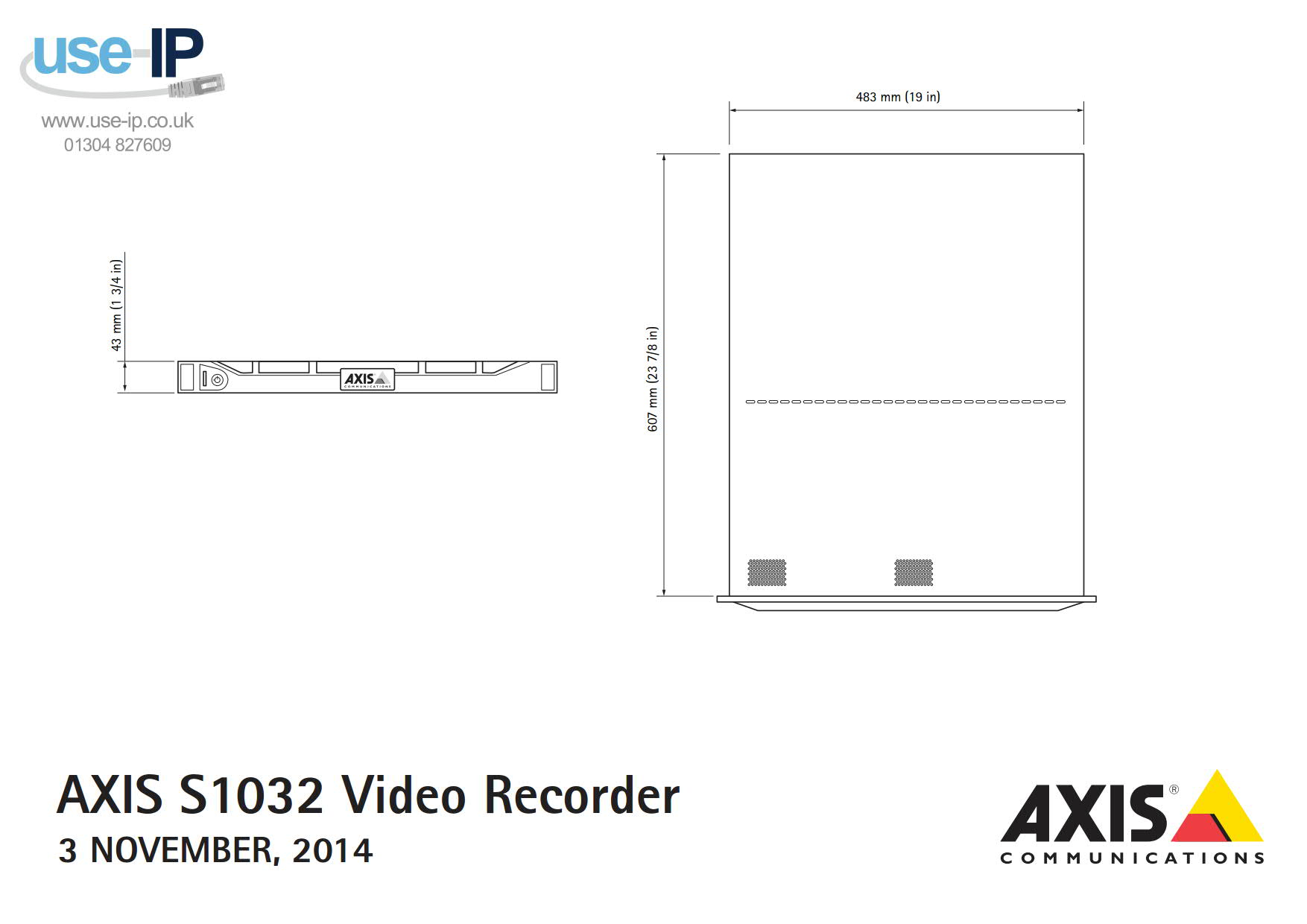 Axis S1032 Mk II Dimensions