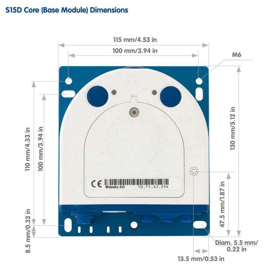 S15D Core - Dimensions