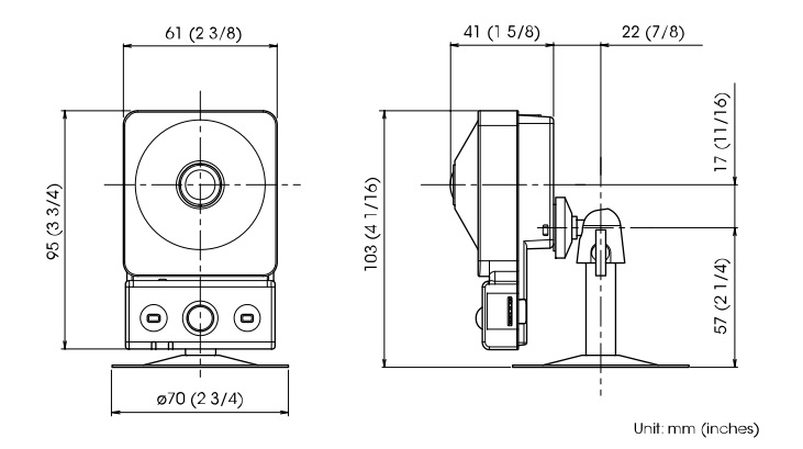 SNC-CX600 dimensions
