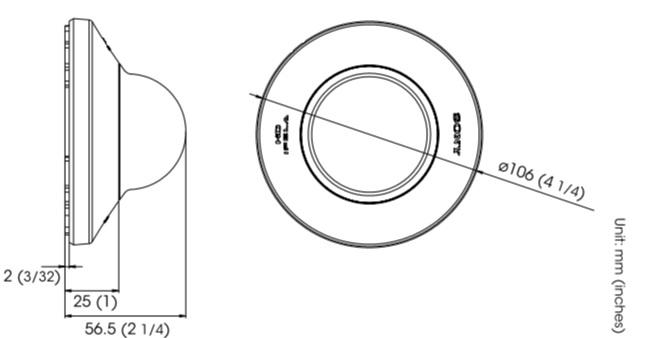 SNC-DH110T dimensions