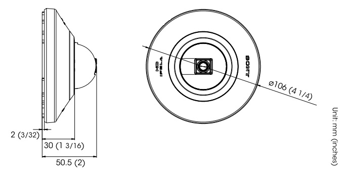 SNC-DH110 dimensions