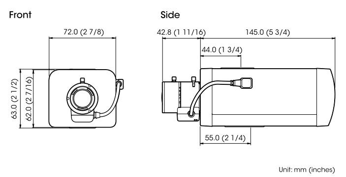 SNC-EB600 dimensions