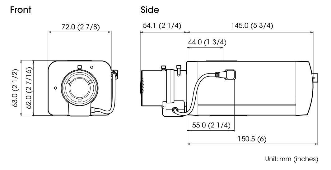 SNC-EB630B dimensions