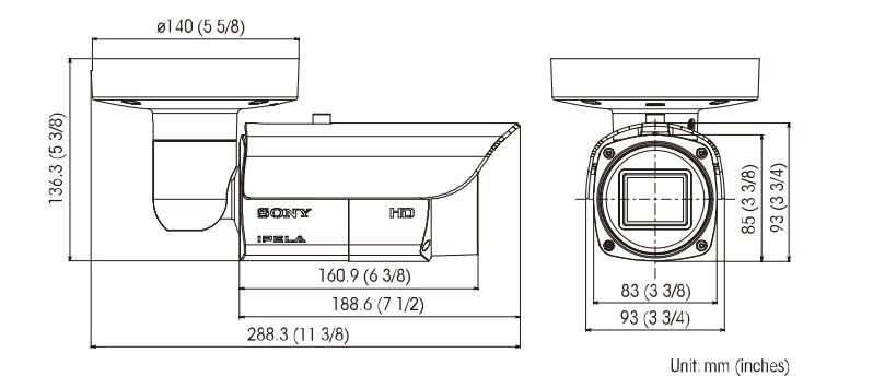 SNC-EB632R dimensions