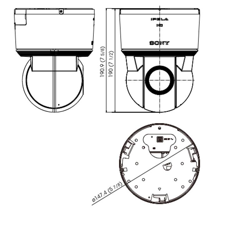 SNC-EP550 dimensions