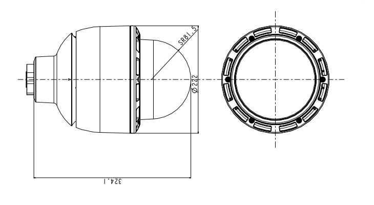 SNC-ER585 dimensions
