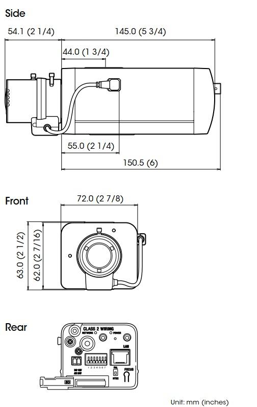 SNC-VB600 dimensions