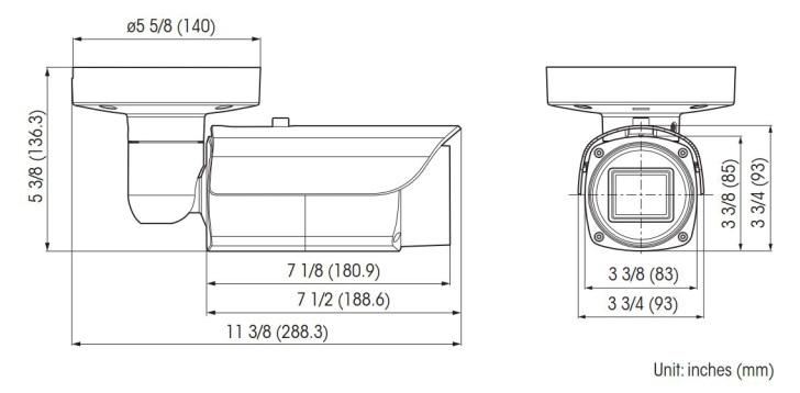 SNC-VB632D dimensions