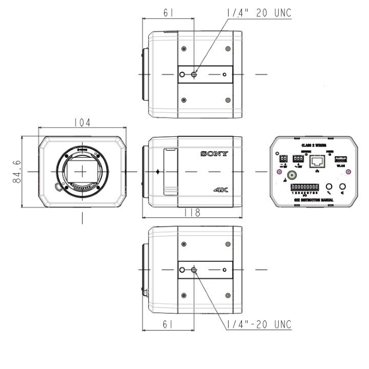 SNC-VB770 dimensions