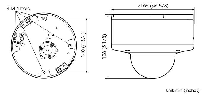 SNC-VM632R dimensions