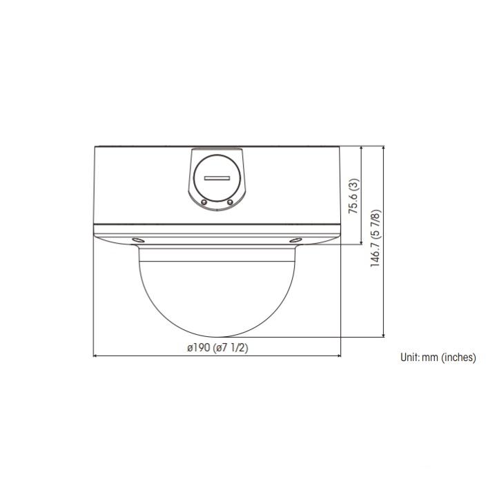 SNC-VM772R dimensions