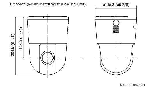 SNC-WR600 dimensions