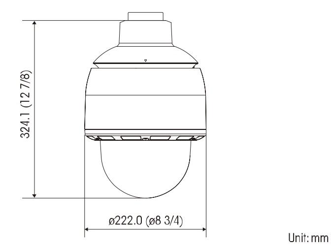 SNC-WR602C dimensions