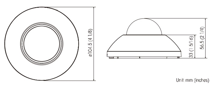 SNC-XM631 dimensions