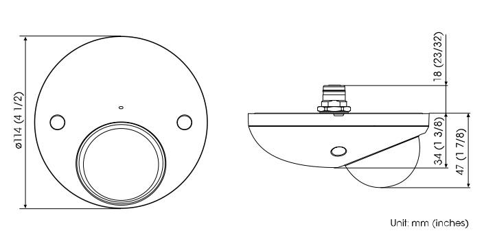 SNC-XM637 dimensions