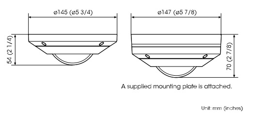 SNC-HM662 dimensions