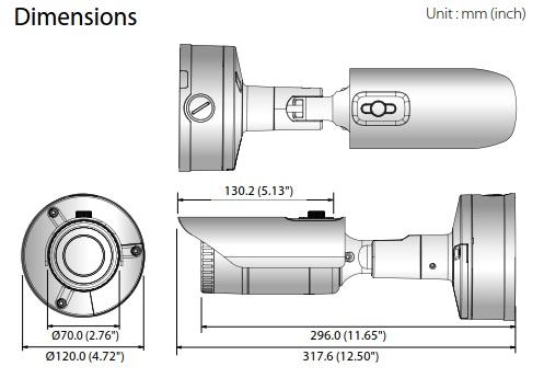 XNO-80x0R Dimensions