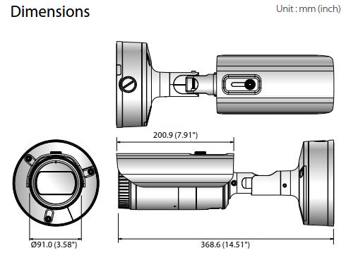 XNO-6080R Dimensions