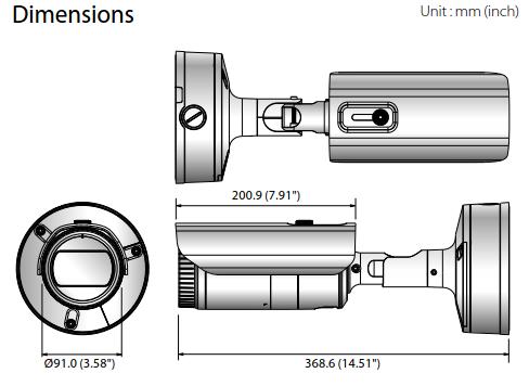XNO-8080R Dimensions