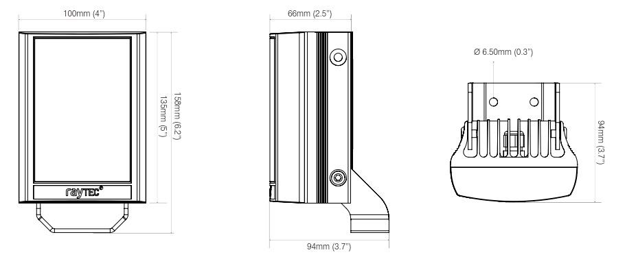 raytec var2-poe-i4-1 dimensions