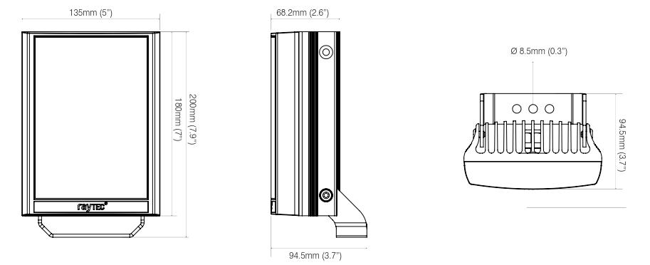 raytec var2-ip-poe-i8-1 dimensions