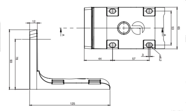 rayTEC wall bracket dimensions