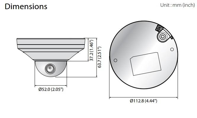 XNV-6011 dimensions