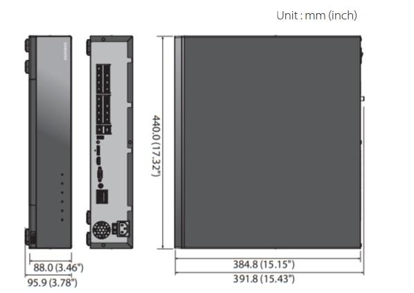 XRN-1610S dimensions
