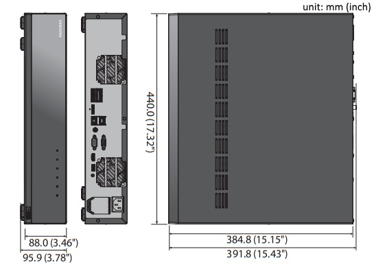 xrn-1610 dimensions