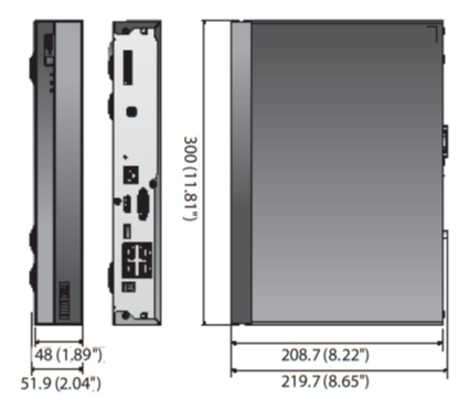 XRN-410S dimensions