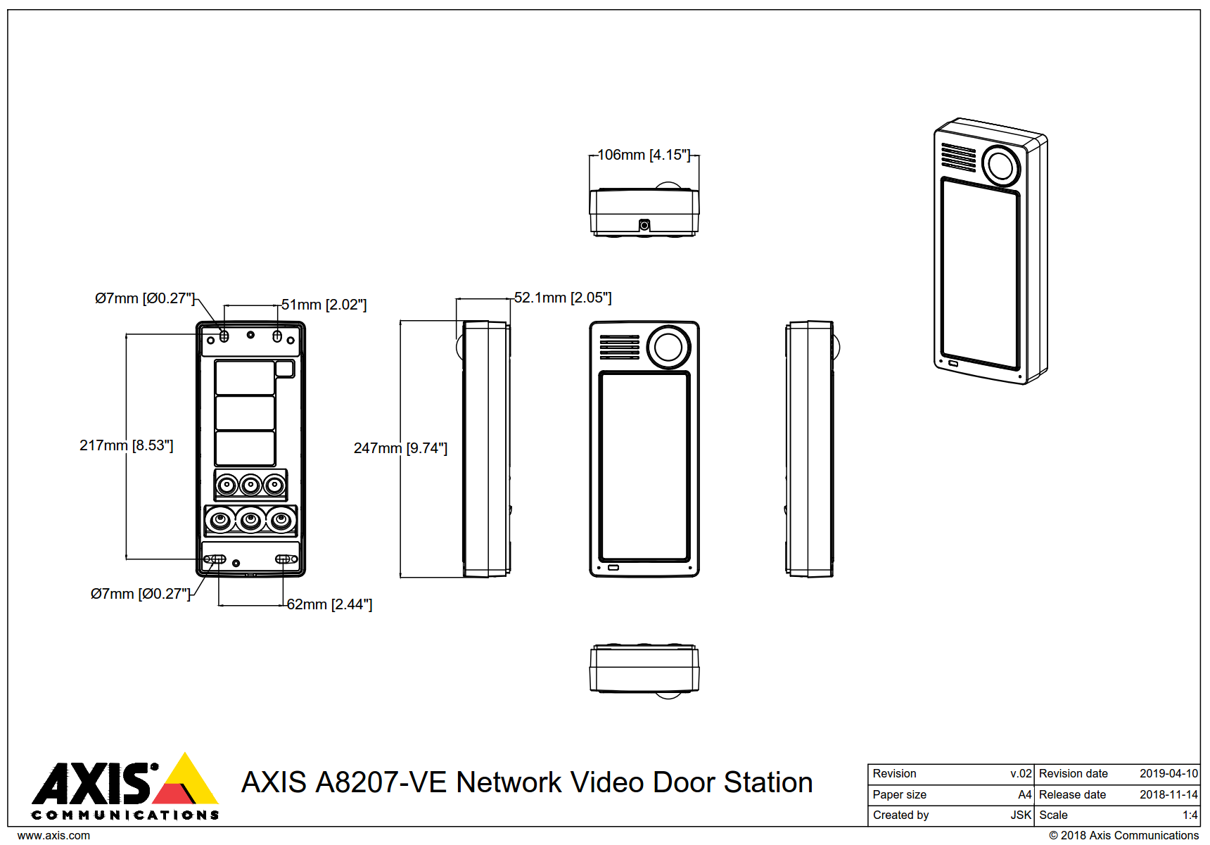 A8207-VE Dimensions