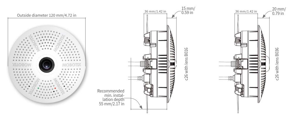 Mobotix c26 Dimensions