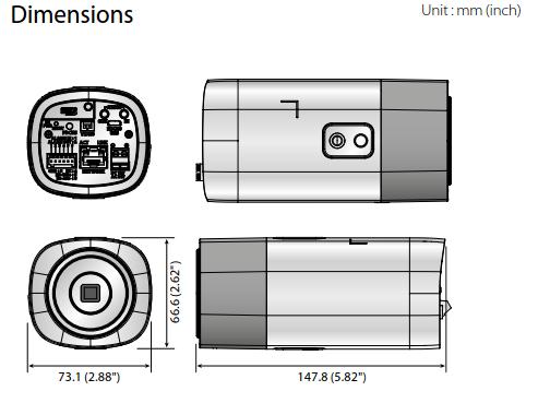 XNB-8000 Dimensions