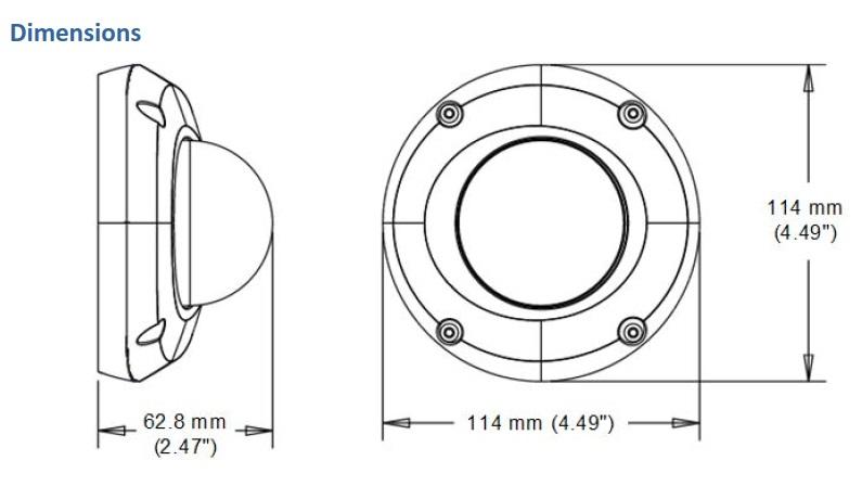 Geovision GV-EDR4700 Dimensions