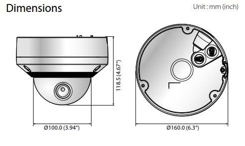 XNV-6080R Dimensions