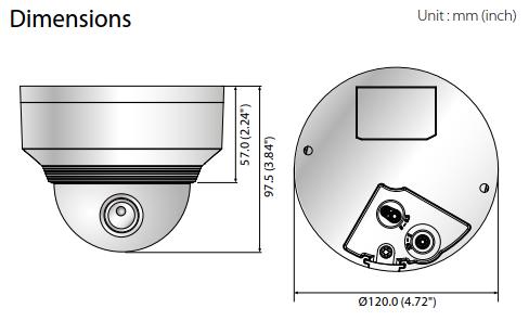 XNV-80x0R Dimensions