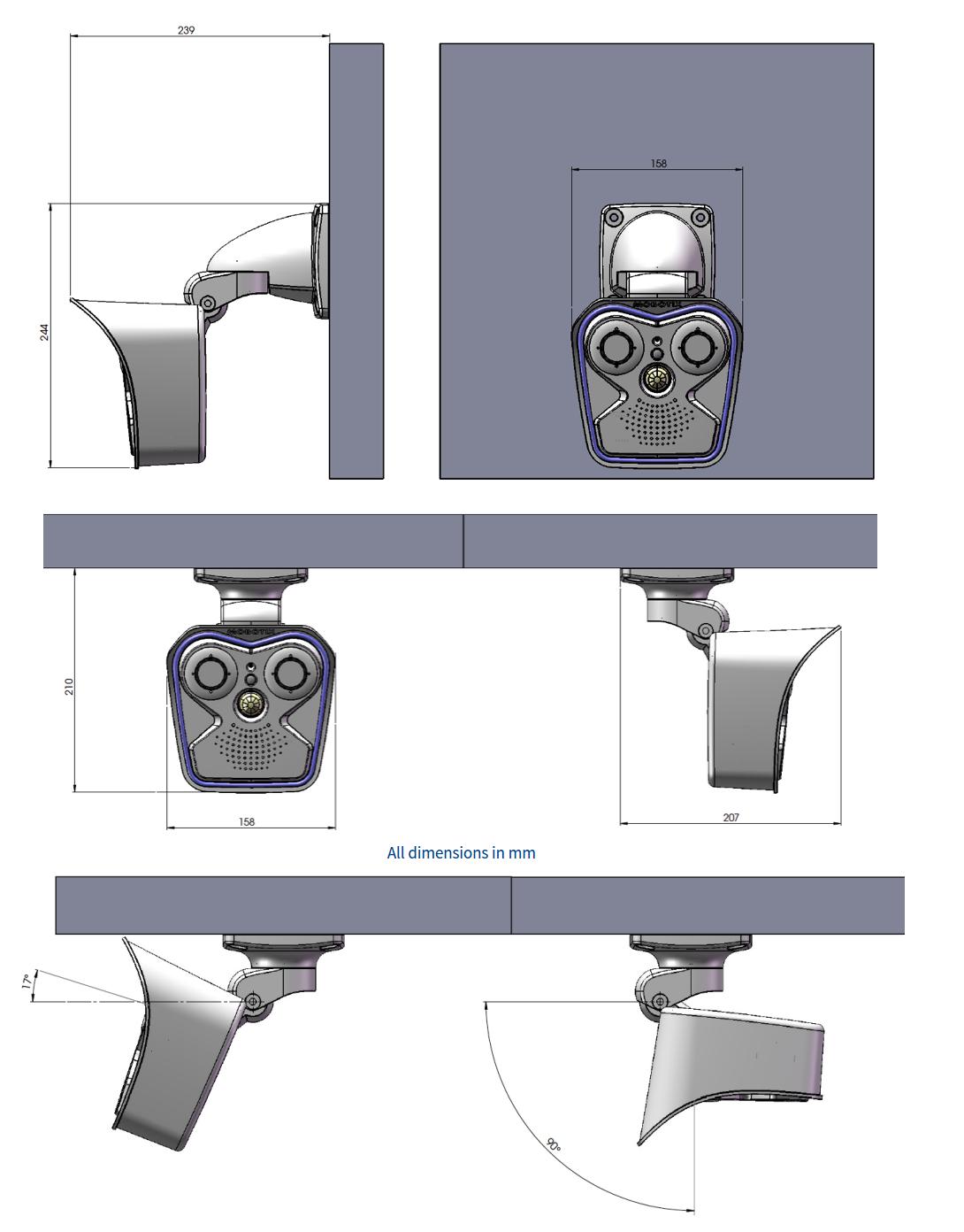 Mobotix M16 Dimensions