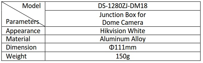 Hikvision DS-1280ZJ-DM18/B Black Junction Box