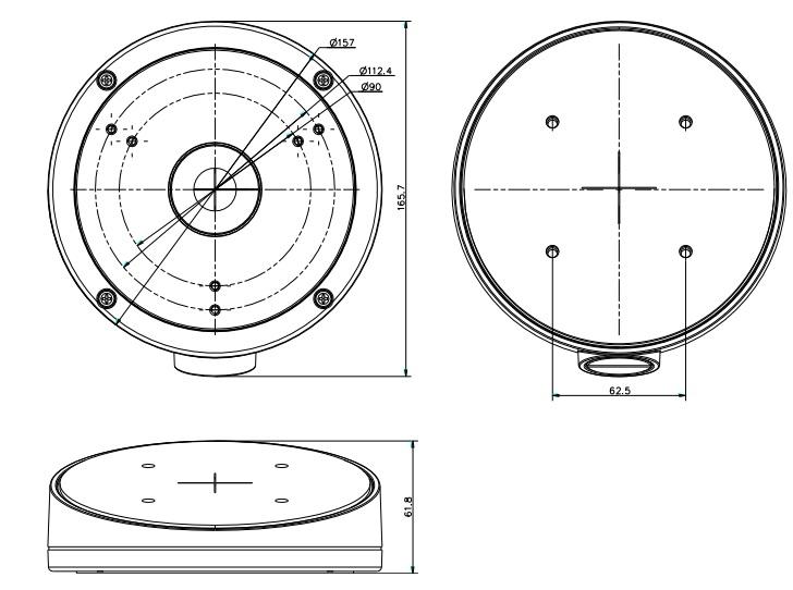 DS-1281ZJ-M dimensions