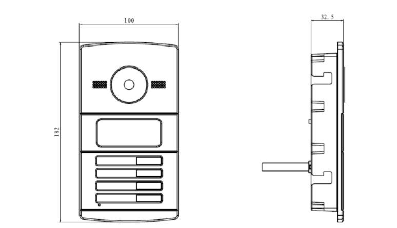 DS-KV8102-IM dimensions