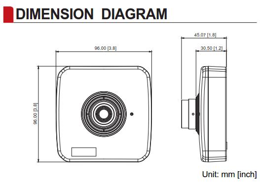 ACTi E17 Dimensions