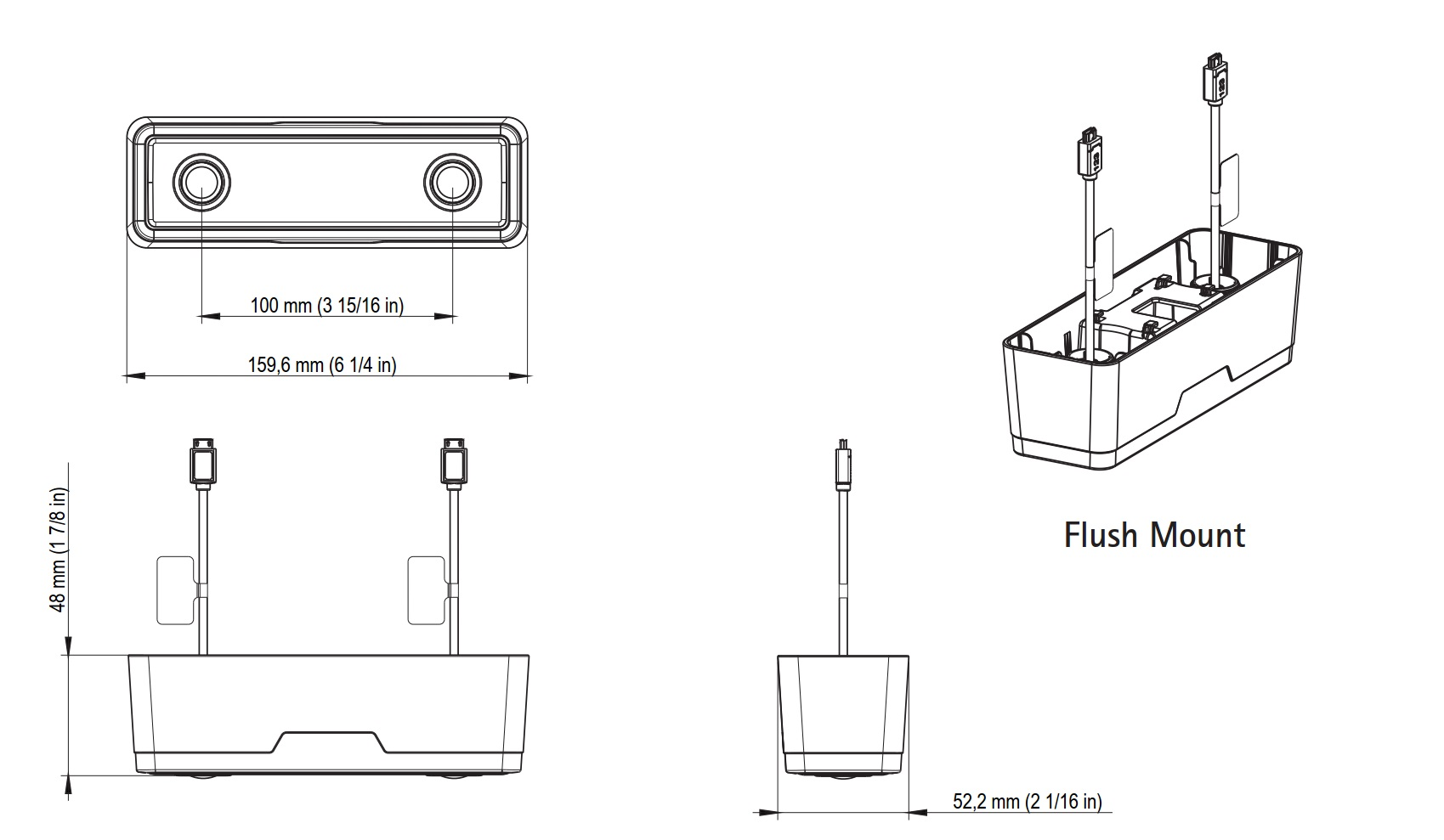 F8804 Flush Mount Dimensions